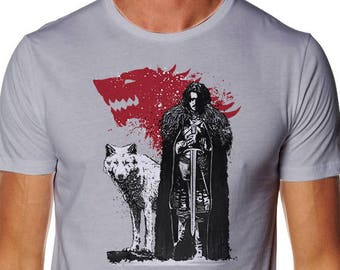 The King and the White Wolf T-shirt - Wolf Shirt - GOT T-shirt - King in the north T-shirt - White Wolf T-shirt - The North Tshirt - Tv Show