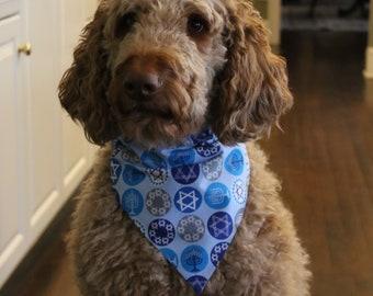 Dog Bandanna - Hanukkah