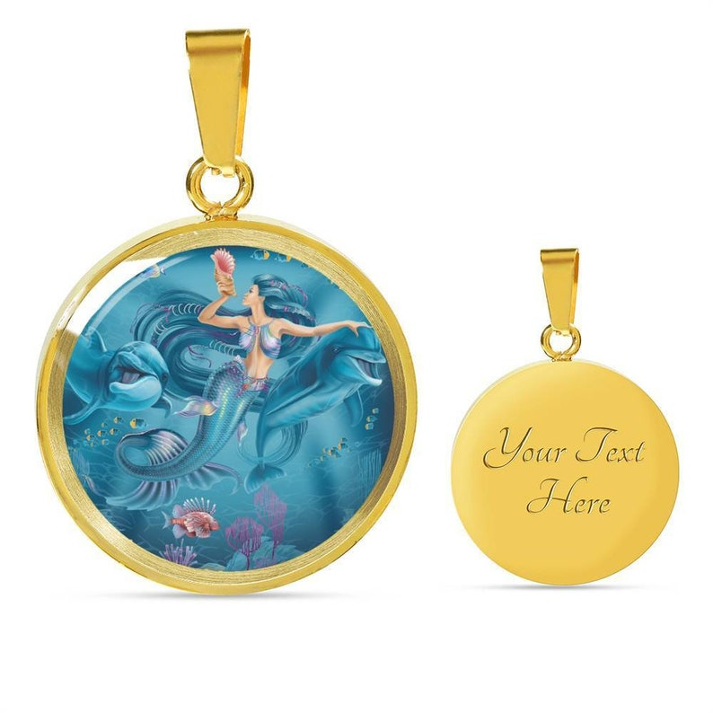 Mermaid and Dolphins Charm Jewelry
