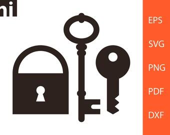 Key Svg Key Vector Key Clipart Key Line Key Silhouette Etsy