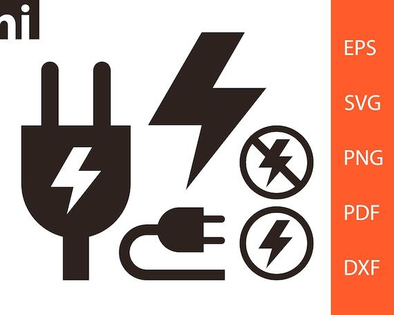 Blitz Hohe Spannung Stecker Strom Blitz-Svg Hohe   Etsy