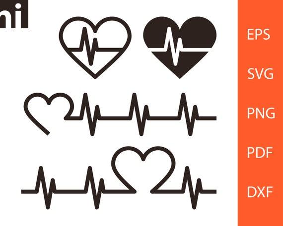 Heartbeat Heart Heartbeat Svg Heart Svg Heartbeat Etsy