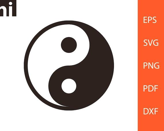 Yin Yang Svg Yin Yang Symbol Yin Yang Silhouette Yin Yang Etsy