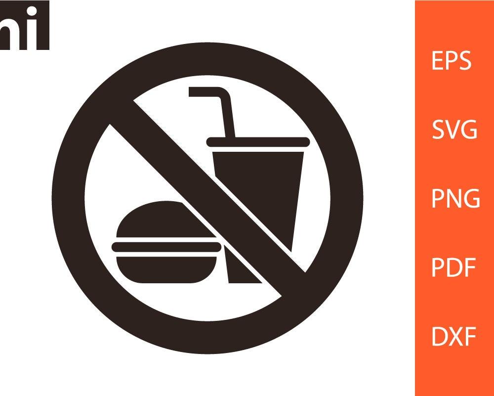 No Food or Drink svg No Food or Drink Sign No Food or ...