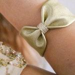 Gold-coloured leatherette cuff