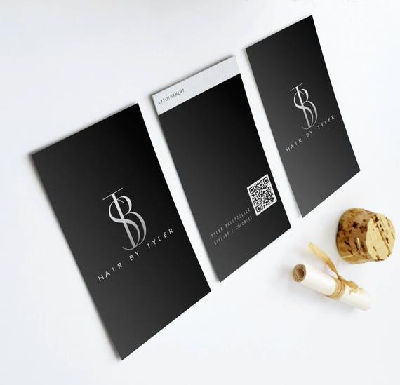 Schwarze Moderne Visitenkarte Termin Qr Code Für Instagram Facebook Etc Schwarz Und Weiß Friseur Fotograf Kleine Unternehmen