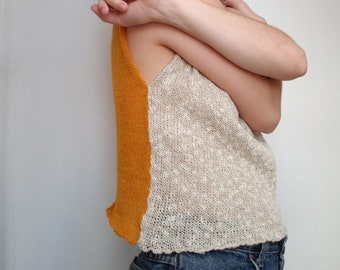 Two Color Knit Tank