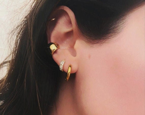 Ear Cuff Gold Plated Thick Trendy Ear Cuff
