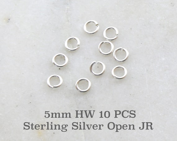 10 Pieces 5mm Heavy Weight 18 Gauge Sterling Silver Open Jump Rings Charm Links Jewelry Making Supplies Sterling Findings