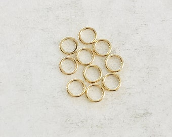 10 Pieces 5.5mm 20 Gauge 14K Gold Filled Soldered Closed Jump Rings Charm Links Jewelry Making Supplies Gold Findings