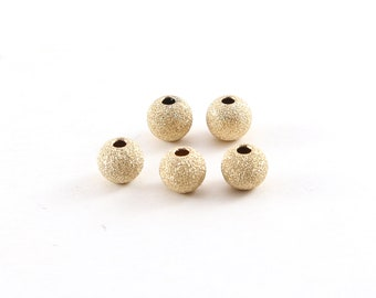 10pcs 7mm 14k yellow Gold Filled Stardust round sparkle star Bead Spacer GS27