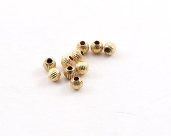10pcs 100pcs #202370 7mm 14K Gold Filled Corrugated Twisted Beads 50pcs