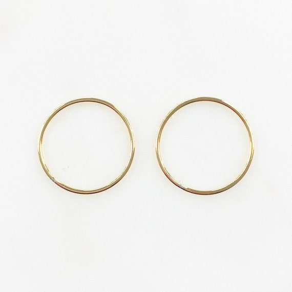 2 Pieces 19mm 14k Gold Filled Smooth Connector Ring Open Circle Charm Soldered Ring Jewelry Making Supplies