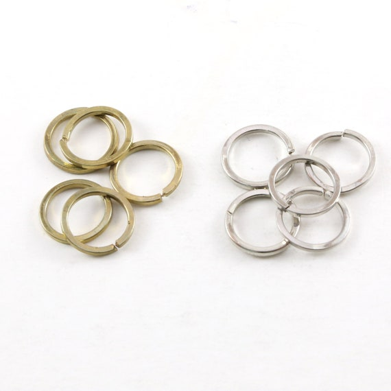 5 Pieces Thick Split Ring Open Circle 15mm Pewter Metal Connector Ring Charm Antique Gold or Antique Silver