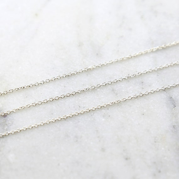 Sterling Silver Small Thick Dainty Chain / Sold by the Foot / Bulk Unfinished Chain