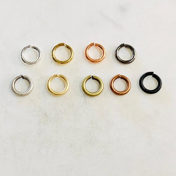24 Pieces 10mm 13 gauge Base Metal Open Jump Rings Charm Links Jewelry Making Supplies Metal Findings