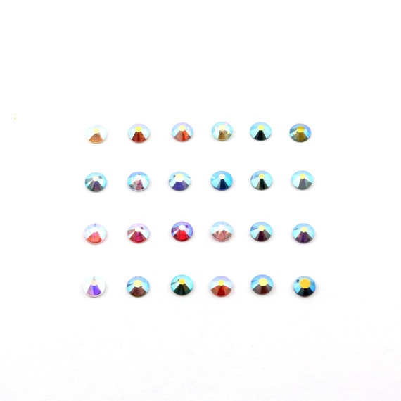 Size 20 SS Swarovski Crystal Aurora Borealis AB Flat Back Crystal Rhinestone  / Sold by the Gross 144 Pieces / Dance Costume Decoration
