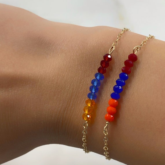 Support Armenia Crystal Chain Bracelet *100% of proceeds donated DIRECTLY to our brave soldiers and displaced families*