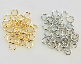 144 Pieces Heavy Weight  6mm 18 Gauge Base Metal Open Jump Ring Charm Links Jewelry Making Supplies Metal Findings