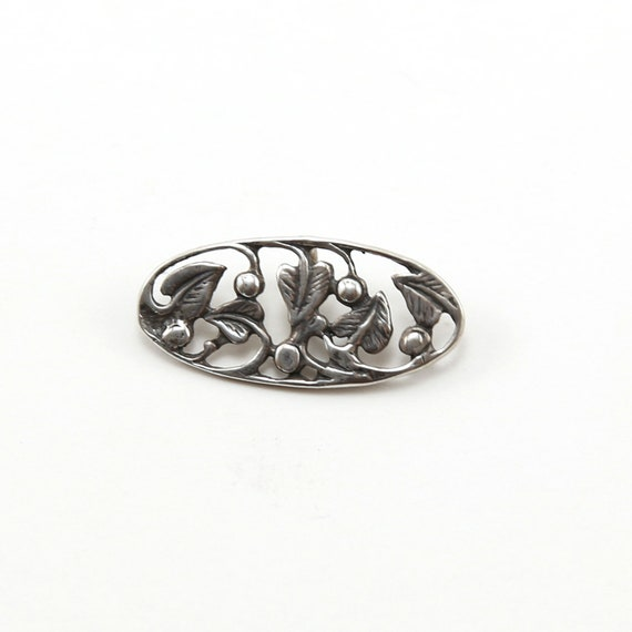 Oval Holly and Leaves Sterling Silver Button Wrap Bracelet Button