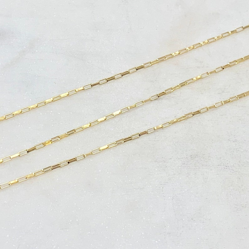 2.8mm x 1.3mm Dainty Venetian Faceted Elongated Flat Rectangle image 0