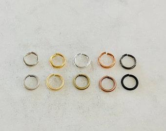 144 Pieces 8mm 18 gauge Base Metal Open Jump Rings Charm Links Jewelry Making Supplies Metal Findings