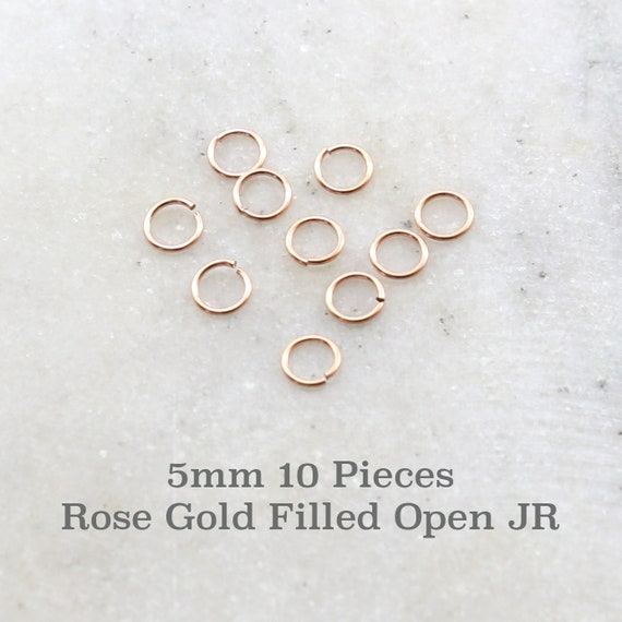 10 Pieces 5mm 20 Gauge Rose Gold Filled Open Jump Rings Charm Links Jewelry Making Supplies Gold Findings