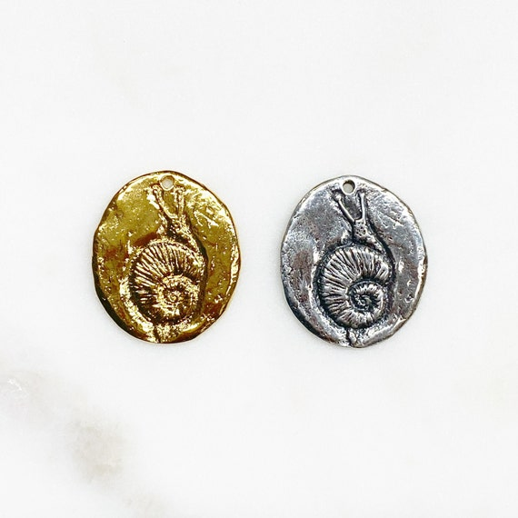 Unique Vermeil Or Sterling Silver Snail Charm Back Reads There Is Time For Every Purpose Under Heaven Snail Animal Oval Charm