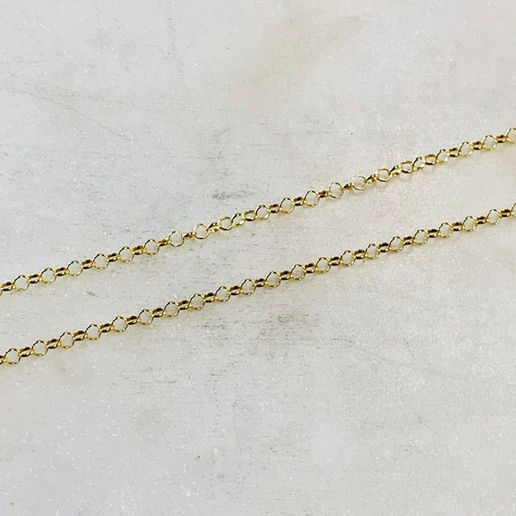 Belcher Rolo Sturdy Thick Chain 2.2mm 14K Gold Filled Sold by the Foot/ Bulk Unfinished Chain