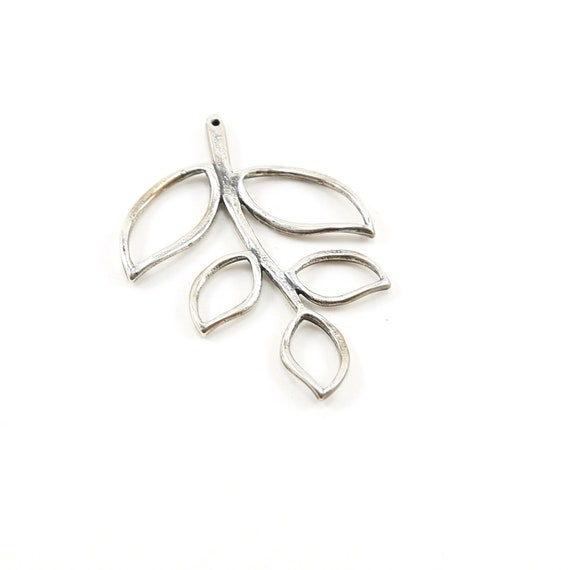 Sterling Silver Open Leaf Vine Branch Tree Connector Nature Inspired Charms