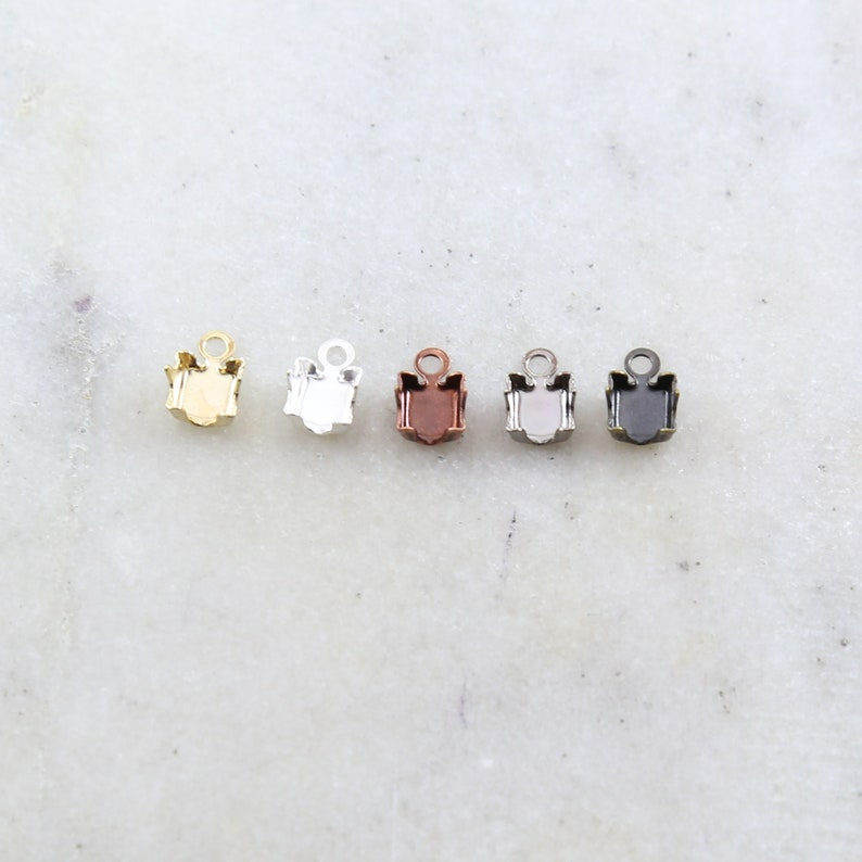 10 Pieces Preciosa Rhinestone Chain Closure Clasp End Jewelry image 0