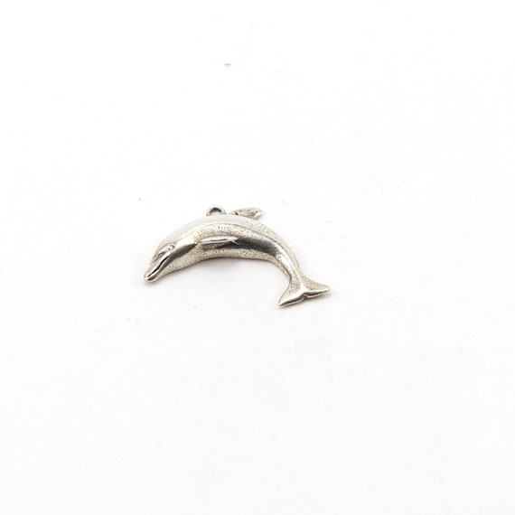 Sterling Silver Dolphin Jumping Charm Ocean Inspired Beach Pendant Animal Conservation Charm