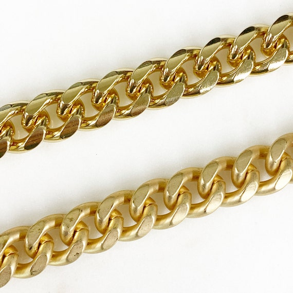Base Metal Large Flat Smooth Oval Chain in Shiny Gold or Shiny Silver Nickel Lead Free  Chain By the Foot