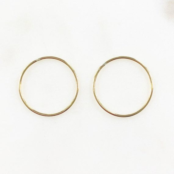 2 Pieces 20.5mm 14k Gold Filled Smooth Connector Ring Open Circle Charm Soldered Ring Jewelry Making Supplies