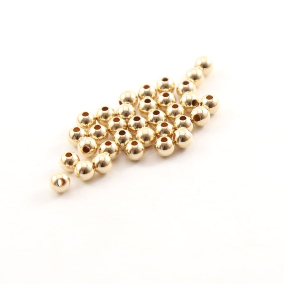 25 Pieces 4mm Smooth Seamless Round 14K Gold Filled Spacer Beads