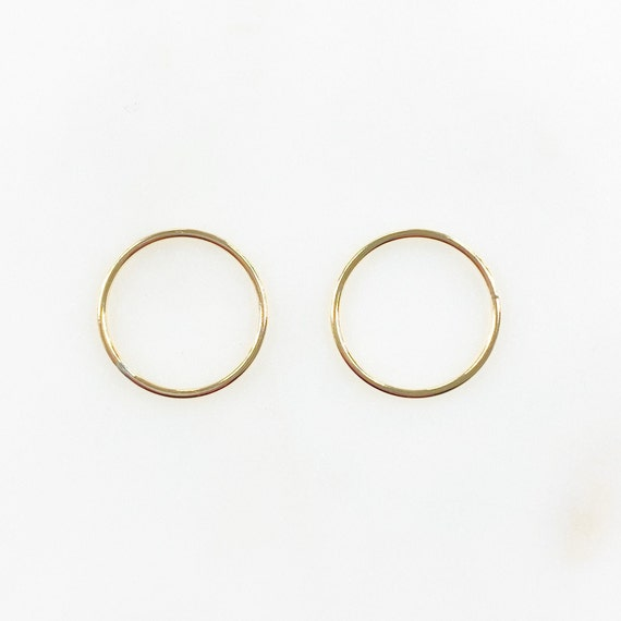 2 Pieces 16mm 14k Gold Filled Smooth Connector Ring Open Circle Charm Soldered Ring Jewelry Making Supplies