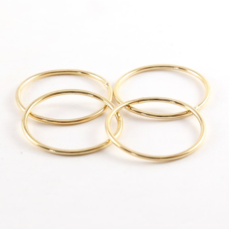 4 Pieces Large 27mm Shiny Gold Smooth Open Circle Connector image 0