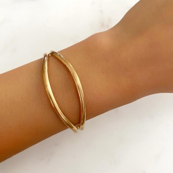 Cute Raw Brass Cuff Bracelet, Ready to Wear