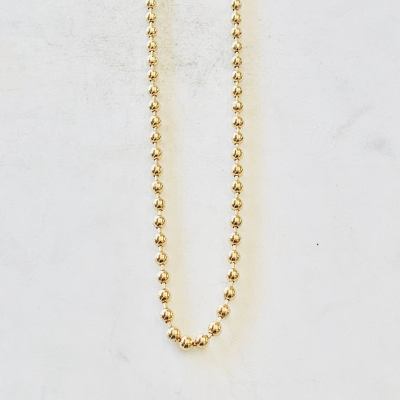 Ready to Wear Finished Ball Chain 18K Gold Filled 3mm Finished Chain 24 inches Ready To Wear
