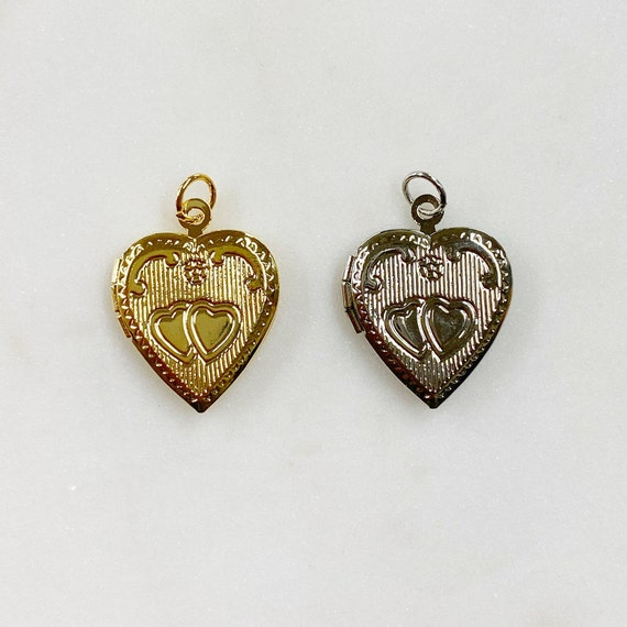 1 Piece Heart Locket Charm Base Metal Locket Choose Your Color Gold or Silver Love and Friendship Charm Locket17