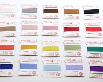 Griffin Pure Silk Thread Card 2 Meters Choose your Color and Size Comes with Needle Knotting Necklace Supplies, Jewelry Cord, Jewelry Silk
