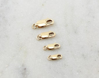 14K Gold Filled Rectangle Lobster Clasp Choose your Size 13.75mm x 11.75mm, 10.25mm, 8.25mm Jewelry Making Supplies Chain Findings