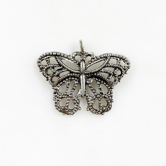 1 Piece Antique Pewter Butterfly Pendant Detailed Unique Butterfly Charm Jewelry Making Charms Animal Charms