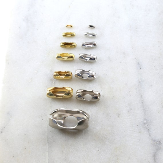10 Pieces Base Metal Silver or Gold Ball Chain Closure Clasp Jewelry Making Supplies Chain Findings