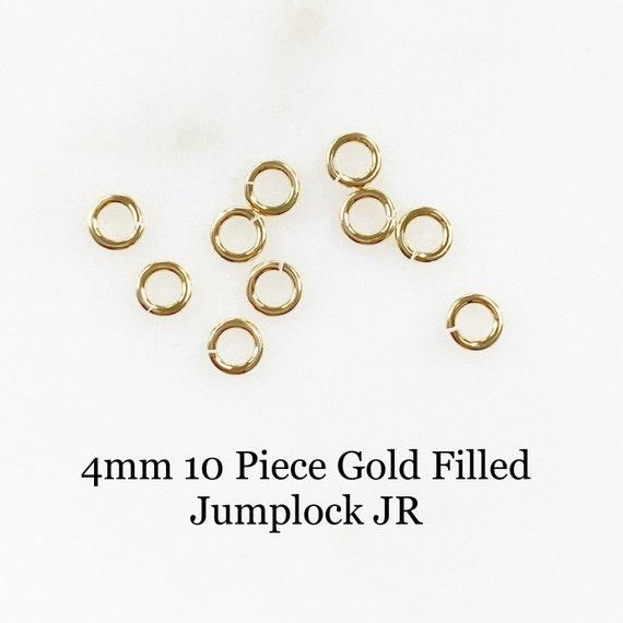 4mm 10 Piece 14k Gold Filled Jumplock Jump Ring Jewelry Making Supplies