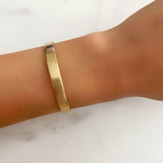 Mini Raw Brass Cuff Bracelet, Ready to Wear