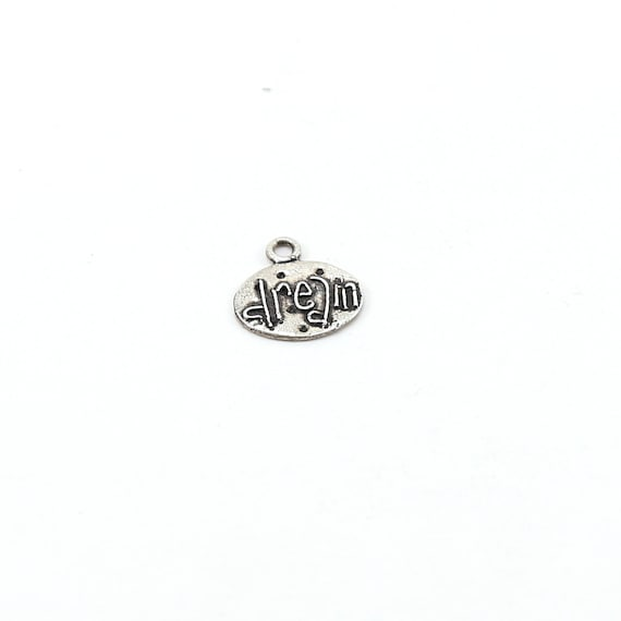 Whimsical Sterling Silver Dream Inspirational Word Charm Pendant