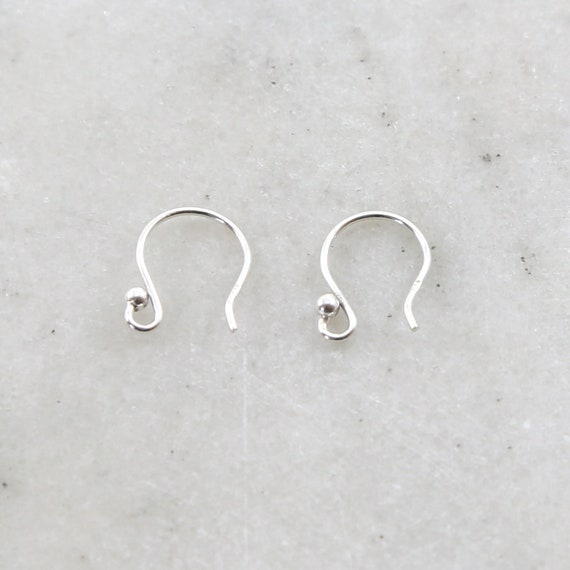 1 Pair Sterling Silver Short Ball Earring Wire Ear Wires Earring Hook Component