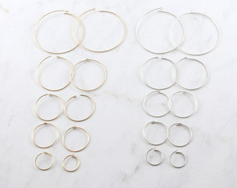 1 Pair Beading Hoop Earring Wire 40mm, 25mm, 18mm, 16mm, 10mm Earring Wires Earring Hook Component