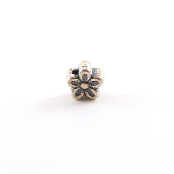Artisan Daisy Flower Spacer Bead in Sterling Silver 925